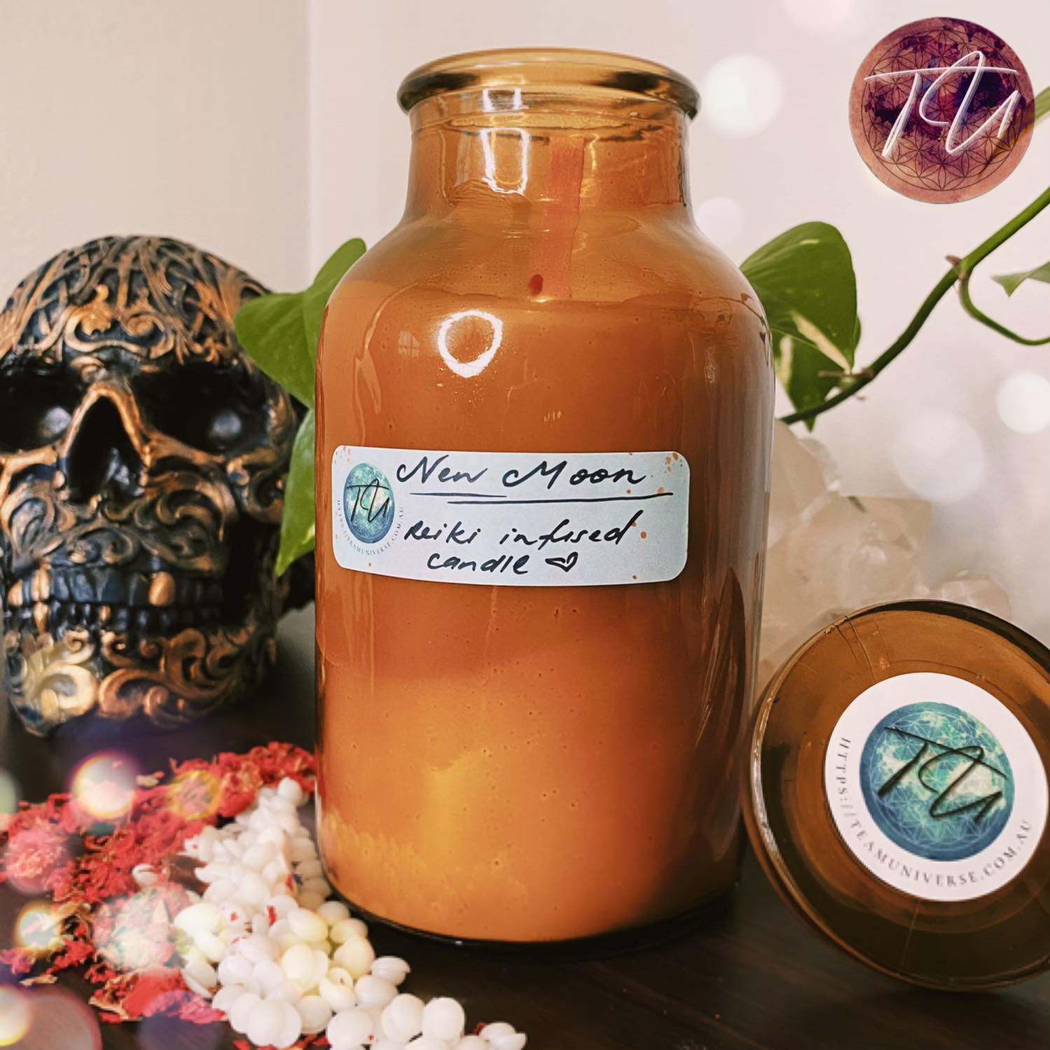 Soy Candle, Reiki infused candles, essential oil candles, handmade candles